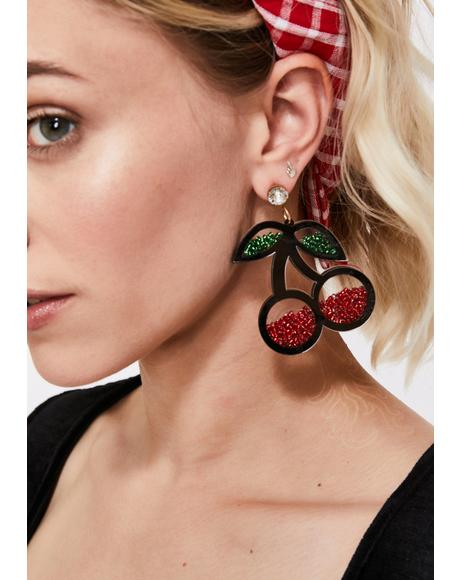 Hey Lolita Cherry Earrings