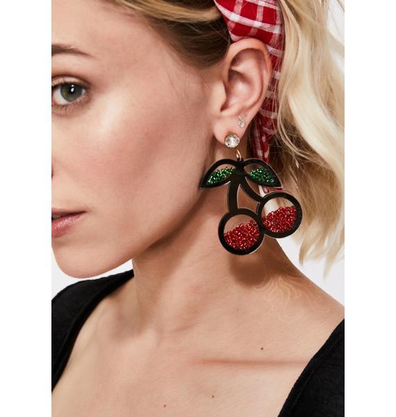 Hey Lolita Cherry Earrings