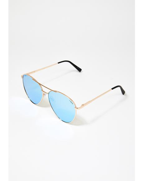 Blue Charlie Aviator Sunglasses