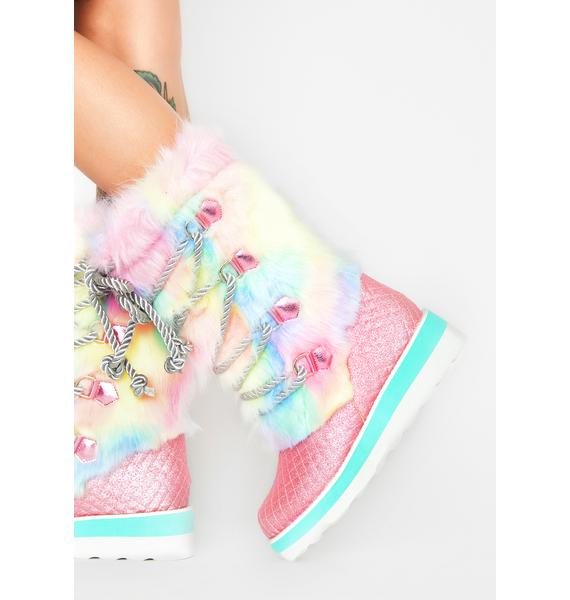 Irregular Choice Cheese And Beans Moon Boots