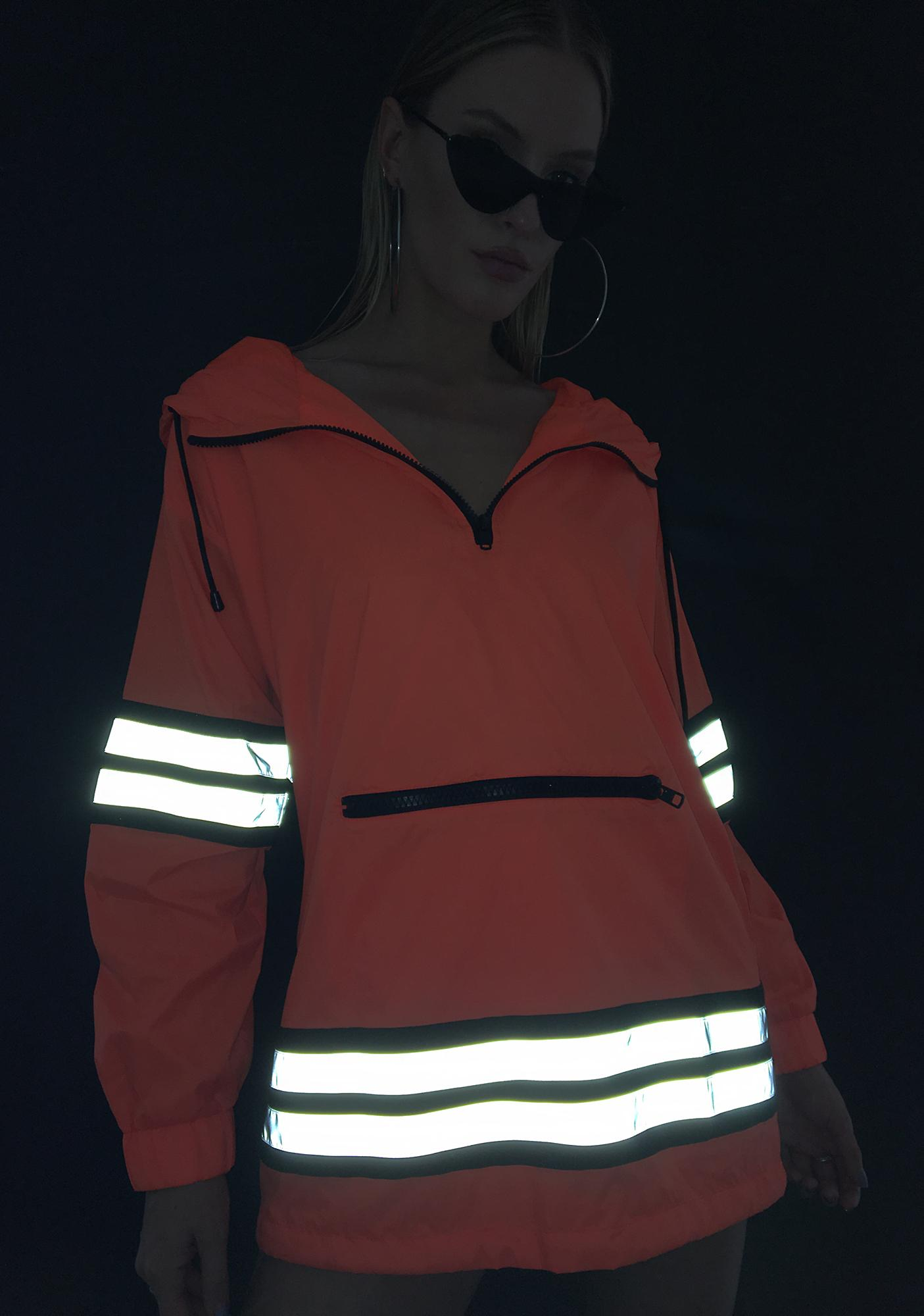 Proceed With Caution Reflective Parka by Poster Grl