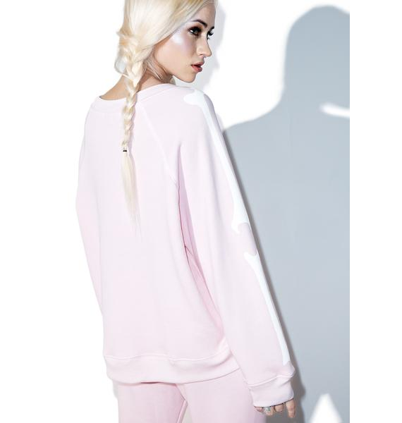 Wildfox Couture Pink Inside Out Kim's Sweater