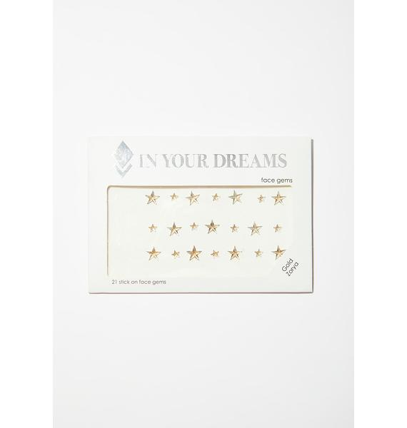 In Your Dreams Gold Zorya Face Jewels