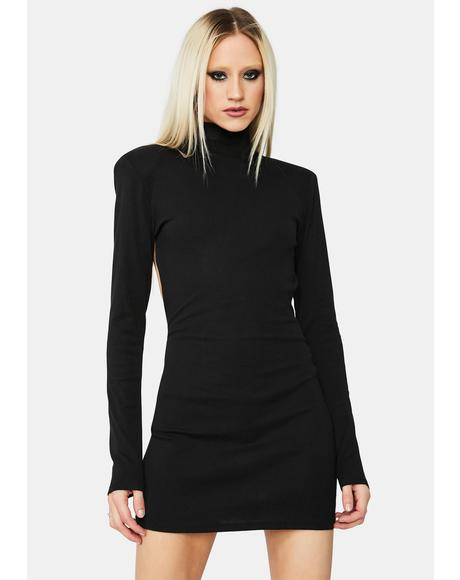Sneaky One Open Back Bodycon Mini Dress