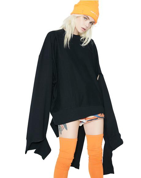 Breakin' Up Cut-Out Sweater