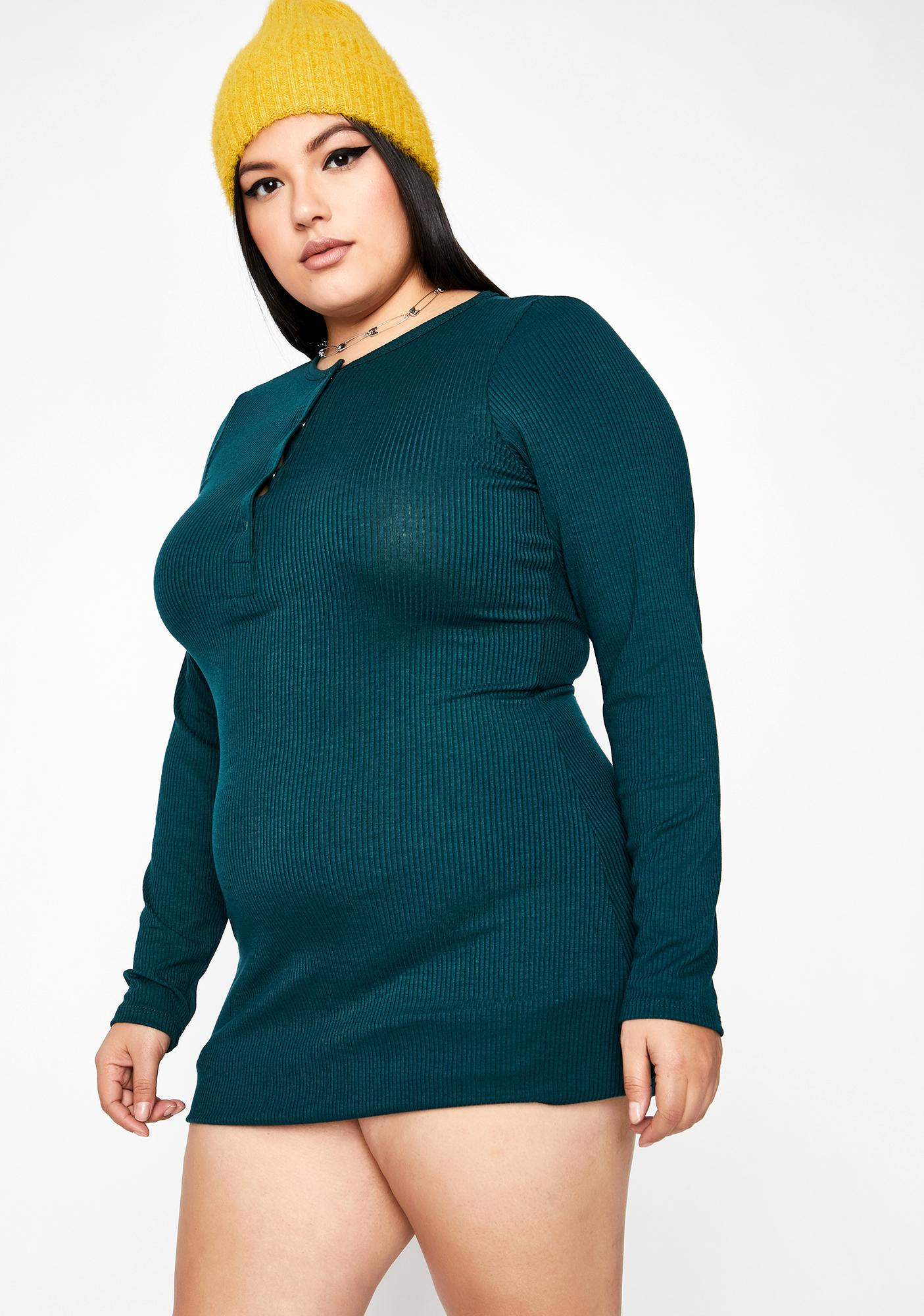 Lush Cozy Couture Long Sleeve Dress