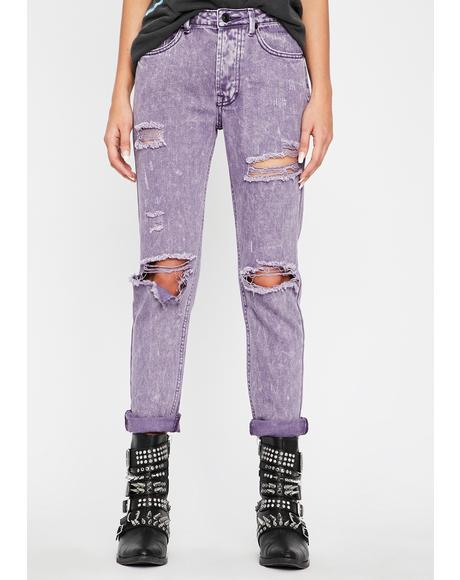 Purp Hardcore Hooligan Distressed Jeans