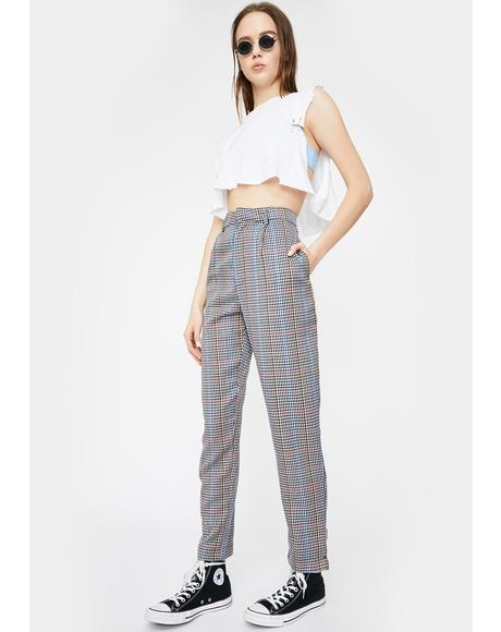 Check Cigarette Trousers