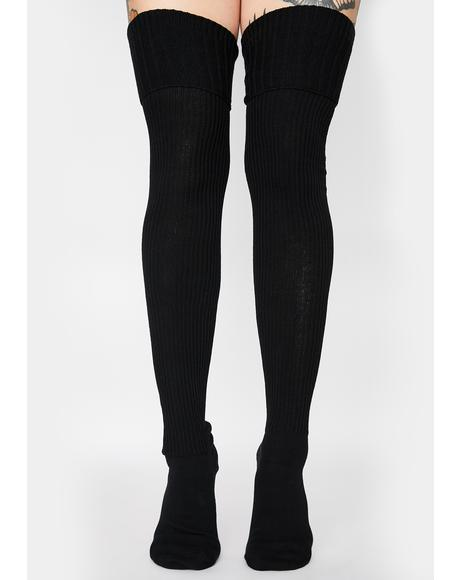 Hecate Slouch Thigh High Socks