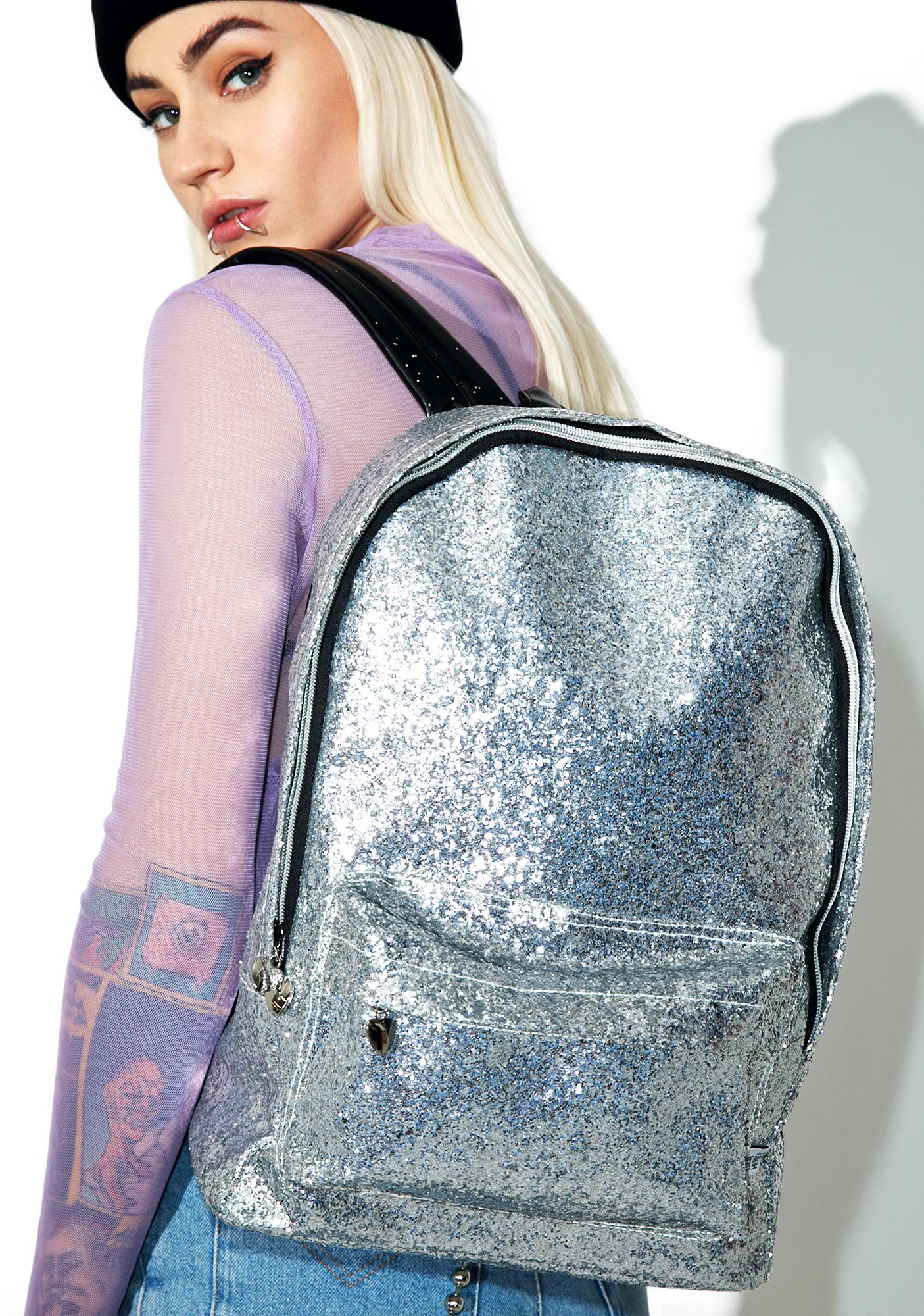 Local Heroes Silver Glitter Backpack