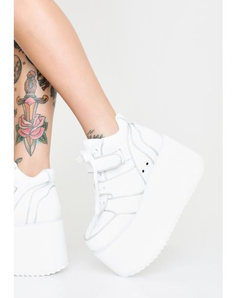 Milky Dream Platform Sneakers