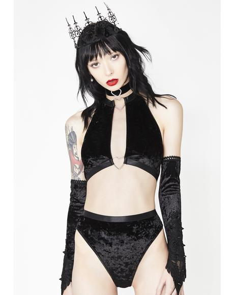 Wicked Heavenly Body Velvet Panties