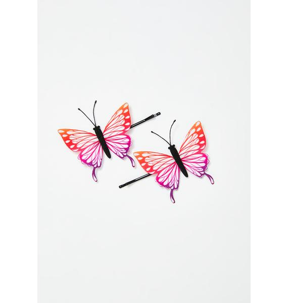 Butterfly Luv Bobby Pin Set