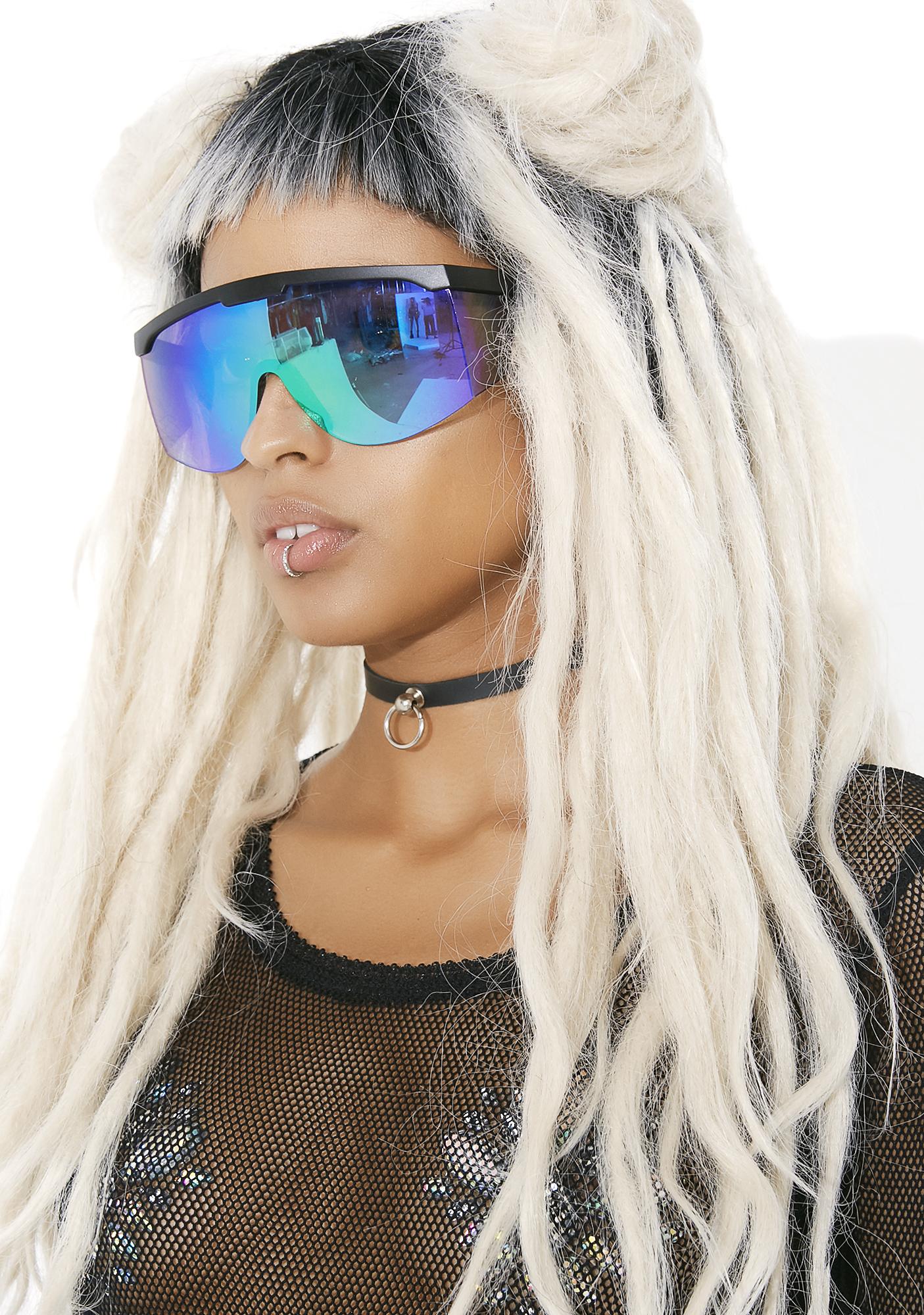 Rave Purple Shield Sunglasses