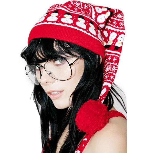 Knitty Kitty Snowman Knit Cap
