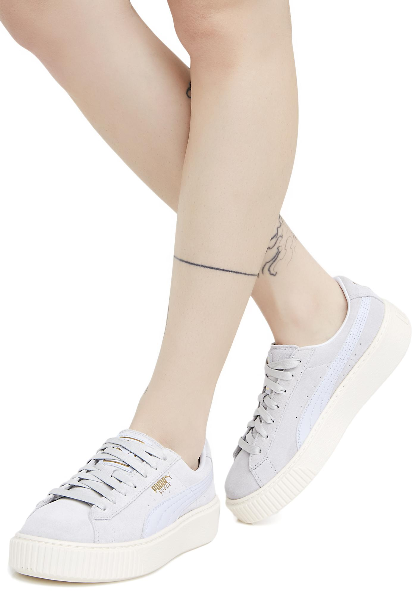 check out 35aa7 0cd2d Suede Platform Core Sneakers