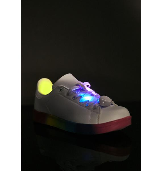 Walking On Rainbowz Light-Up Sneakers