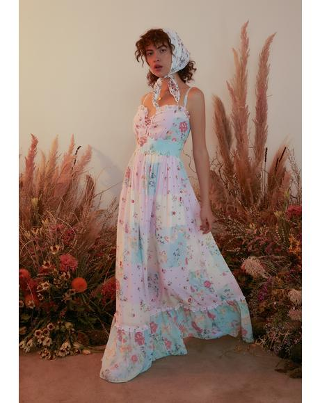 Pat A Cake Twill Floral Maxi Dress