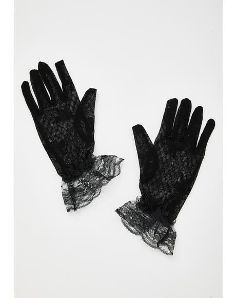Peaceful Anarchy Lace Gloves