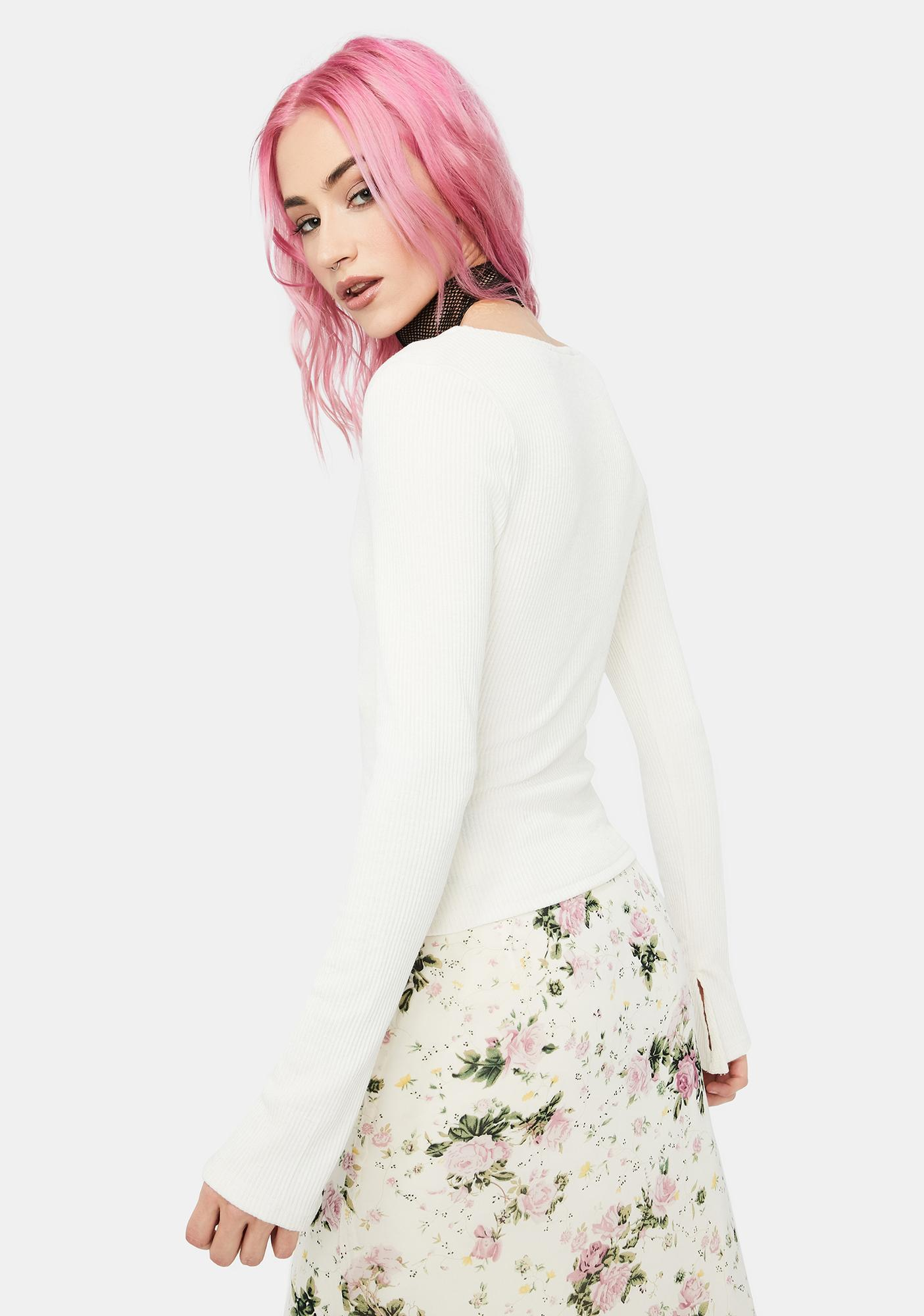 Bliss Only The Best Cutout Long Sleeve Top