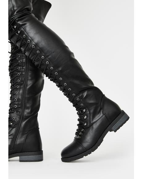 Harsh Fight Lace Up Boots