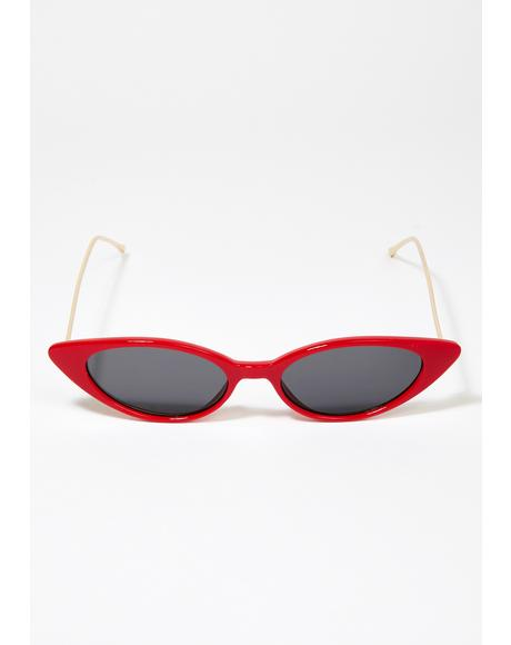 Red Isla Cat Eye Sunglasses