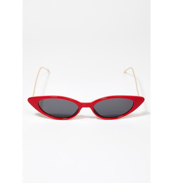 I-SEA Red Isla Cat Eye Sunglasses