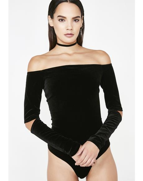 Dark What I Like Off Shoulder Bodysuit