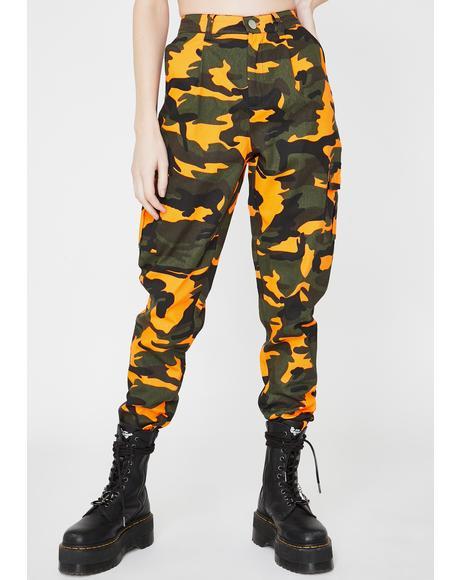 Neon Camo Cargo Pants