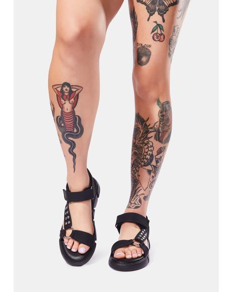 Dark Align Sandals