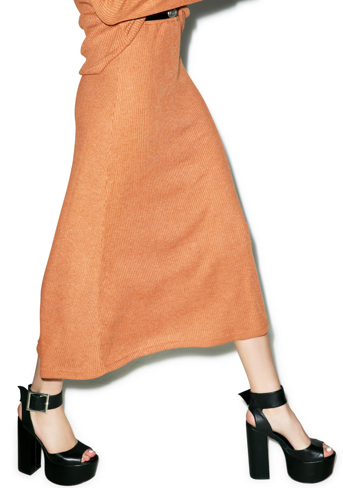 Somedays Lovin Patti Rib Midi Skirt