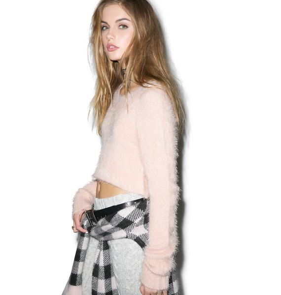 For Love & Lemons Ski Bunny Crop Sweater