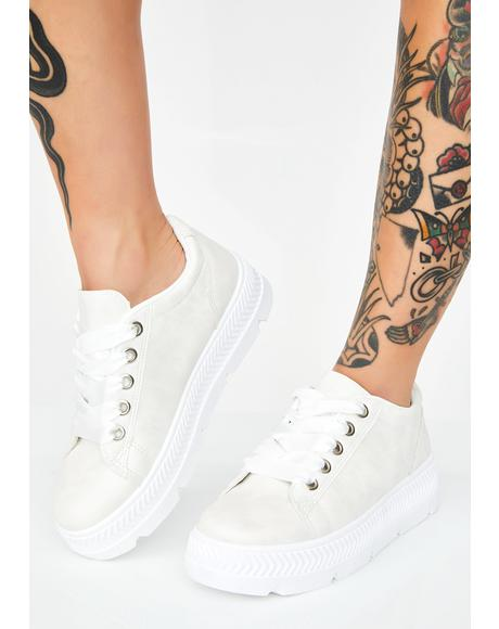 Icy Step To It Platform Sneakers