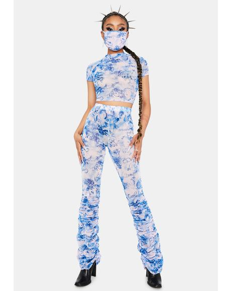 Royal True Renaissance Mesh Pant Set