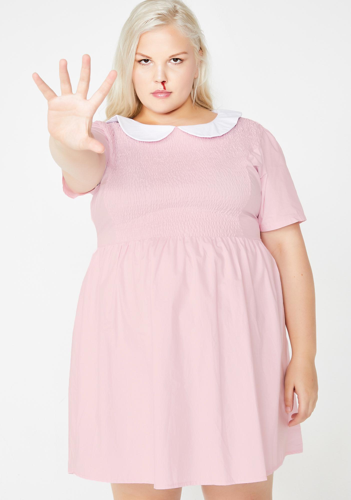5e5797b1fb Plus Size Stranger Things Eleven Halloween Dolls Kill Dress | Dolls Kill
