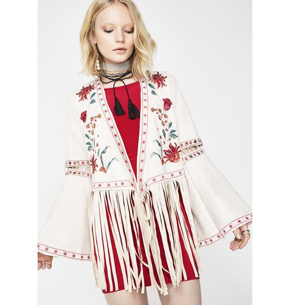 Glamorous Desert Bloom Embroidered Jacket