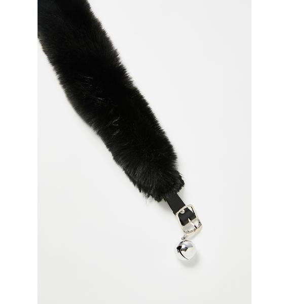 Devil666ish Black Kitty Faux Fur Choker