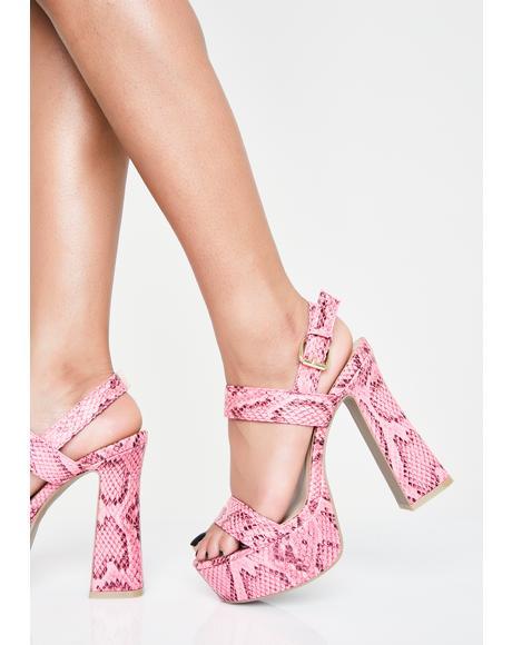 Sweet Slither Sis Platform Heels