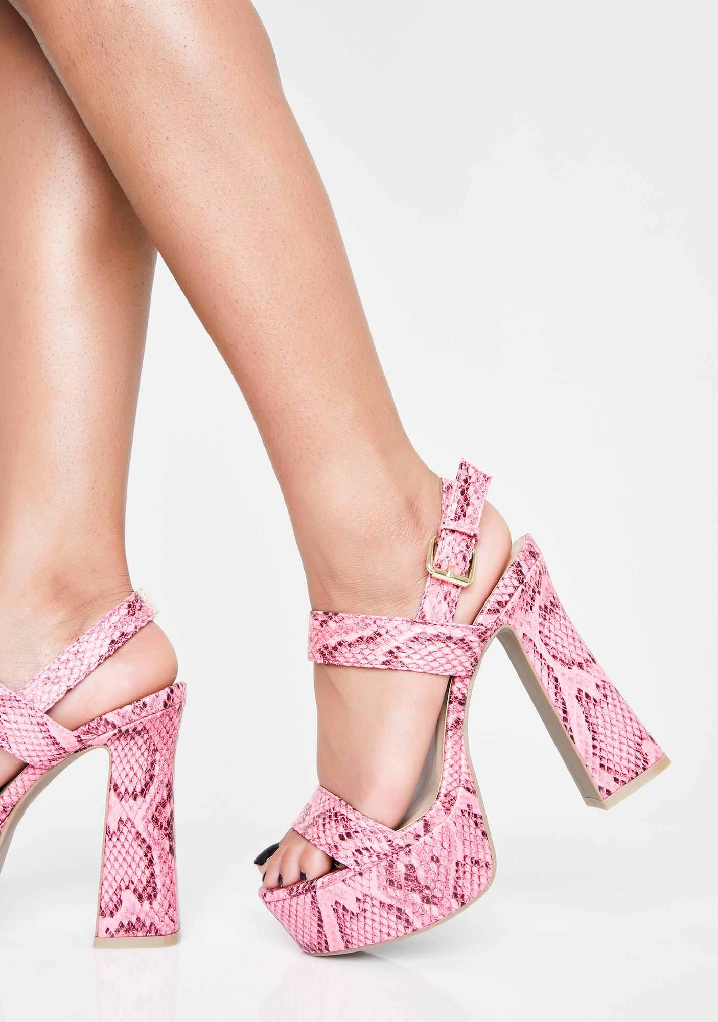 Sweet Slither Sis Platform Heels by