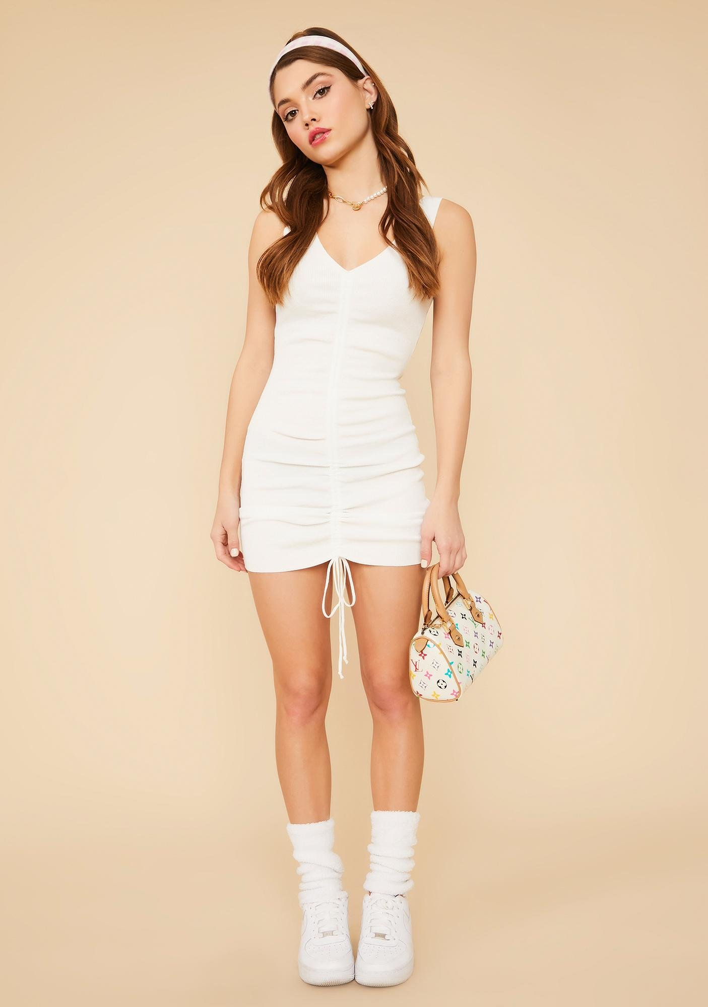 Pure Well Versed Ruched Mini Dress
