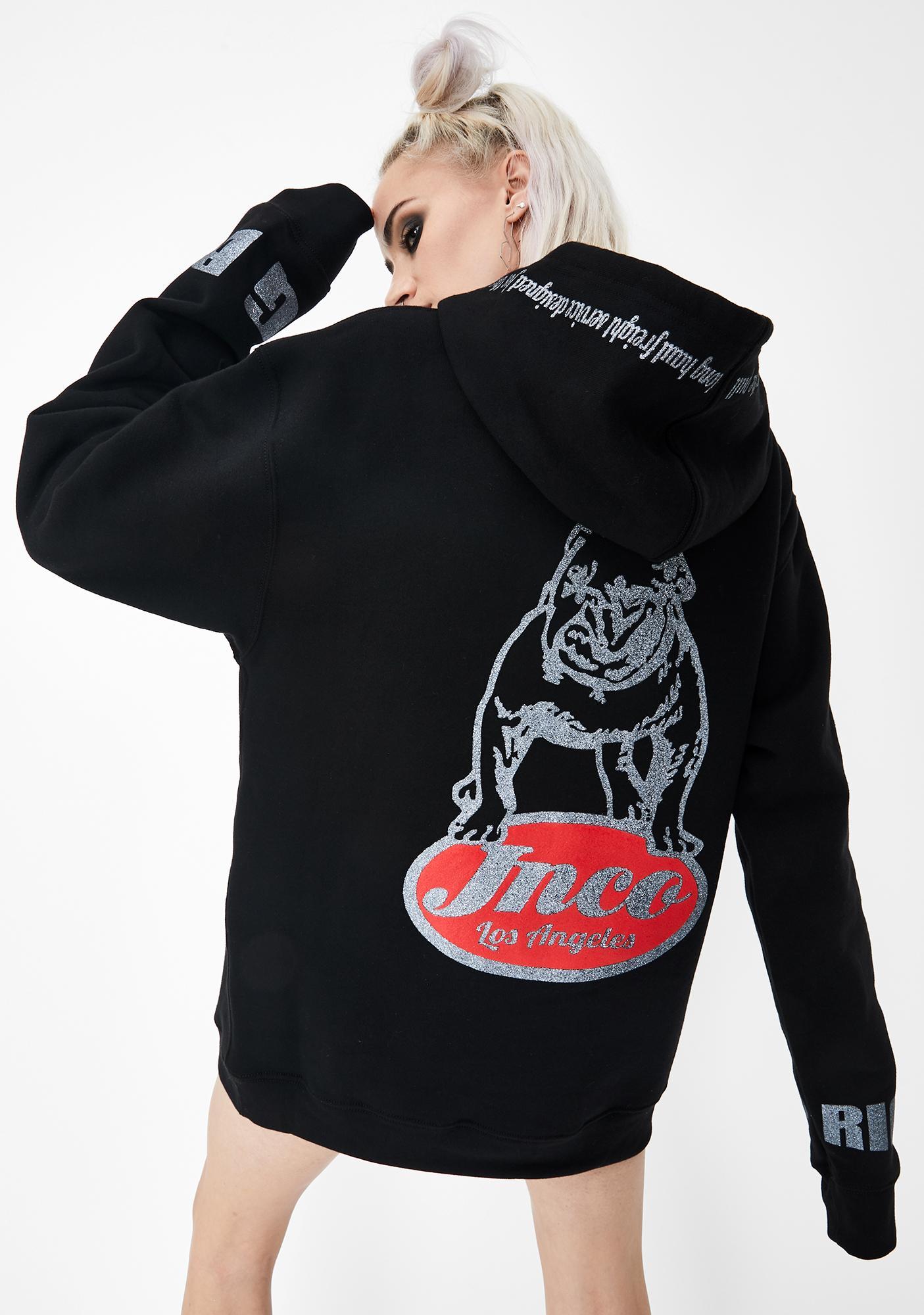 JNCO Big Rig Bulldog Fleece Hoodie