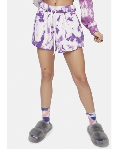 Purple Layla Tie Dye Shorts