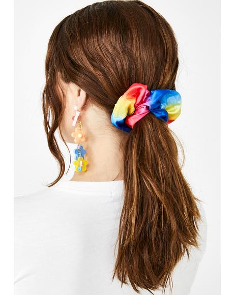Psychedelic Twist Scrunchie Set