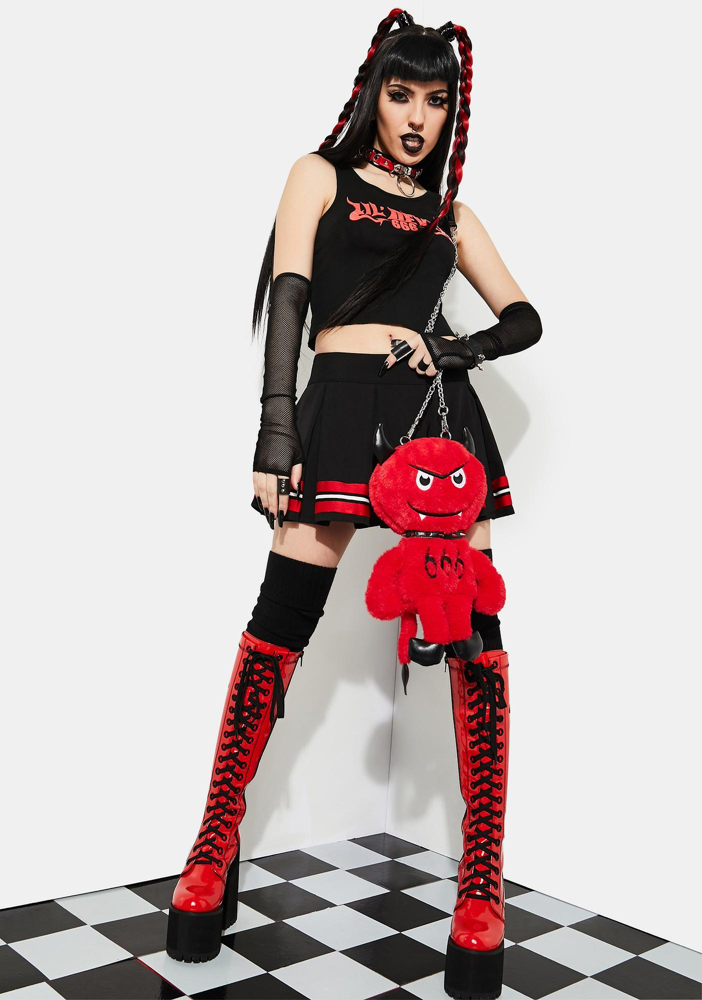 Current Mood Little Lucifer Fuzzy Crossbody Bag
