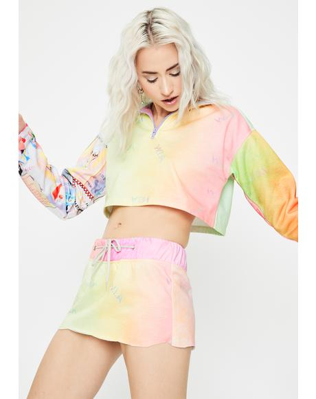 Aqueous Tie Dye Mini Skirt
