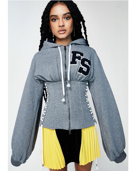 FENTY PUMA By Rihanna Fleece Side Lace Hoody
