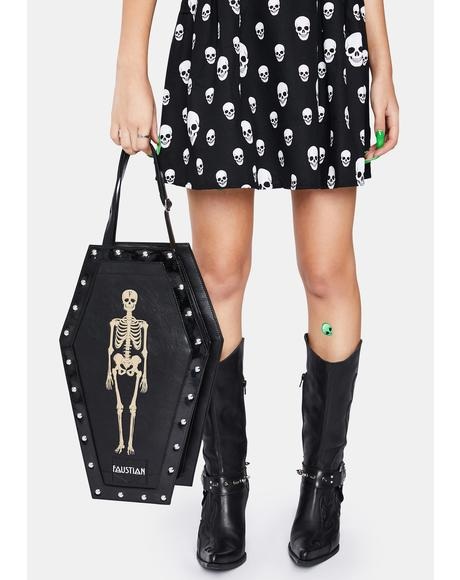 Eddie Skeleton Large Coffin Backpack