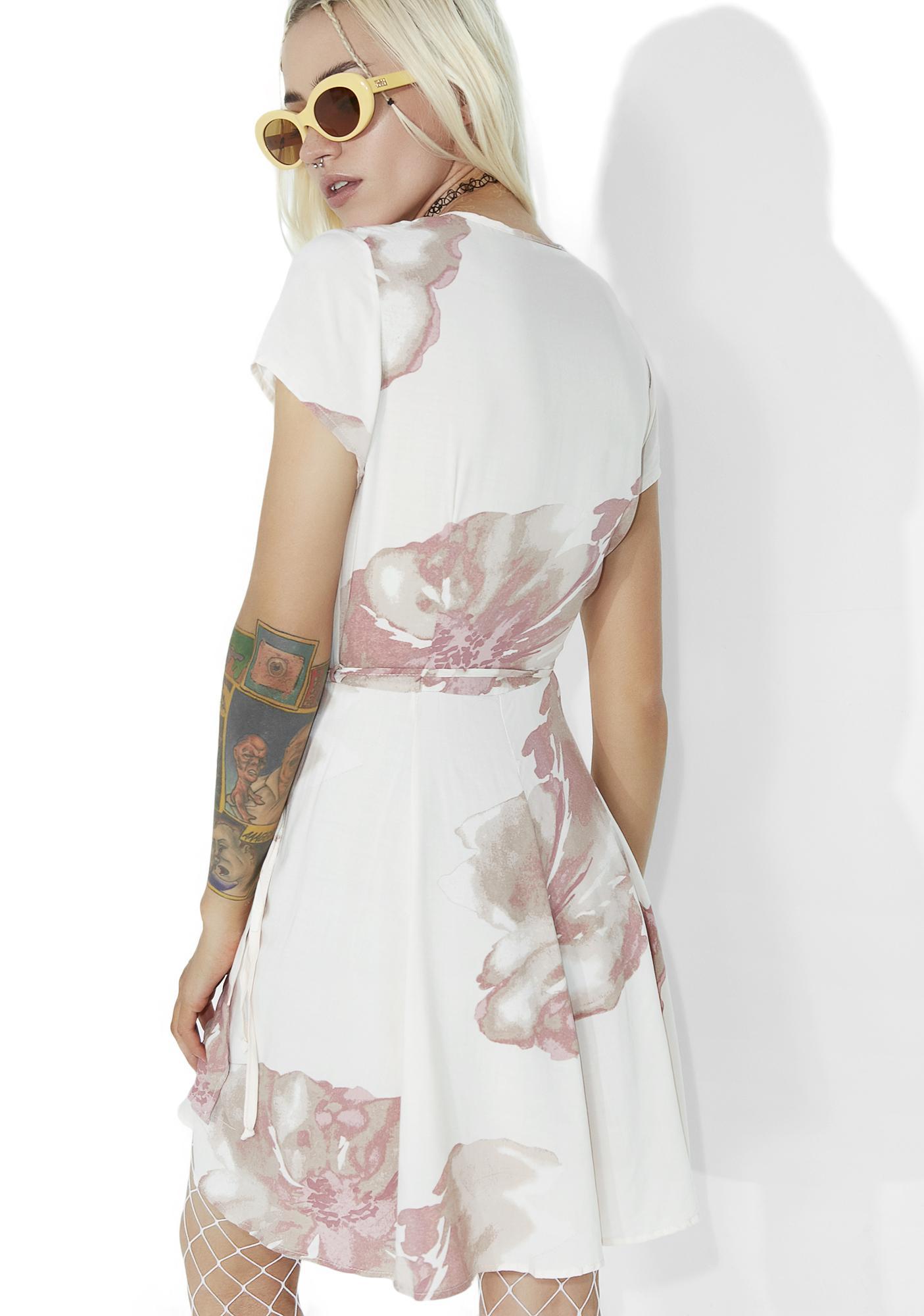 Chiyo Floral Wrap Dress