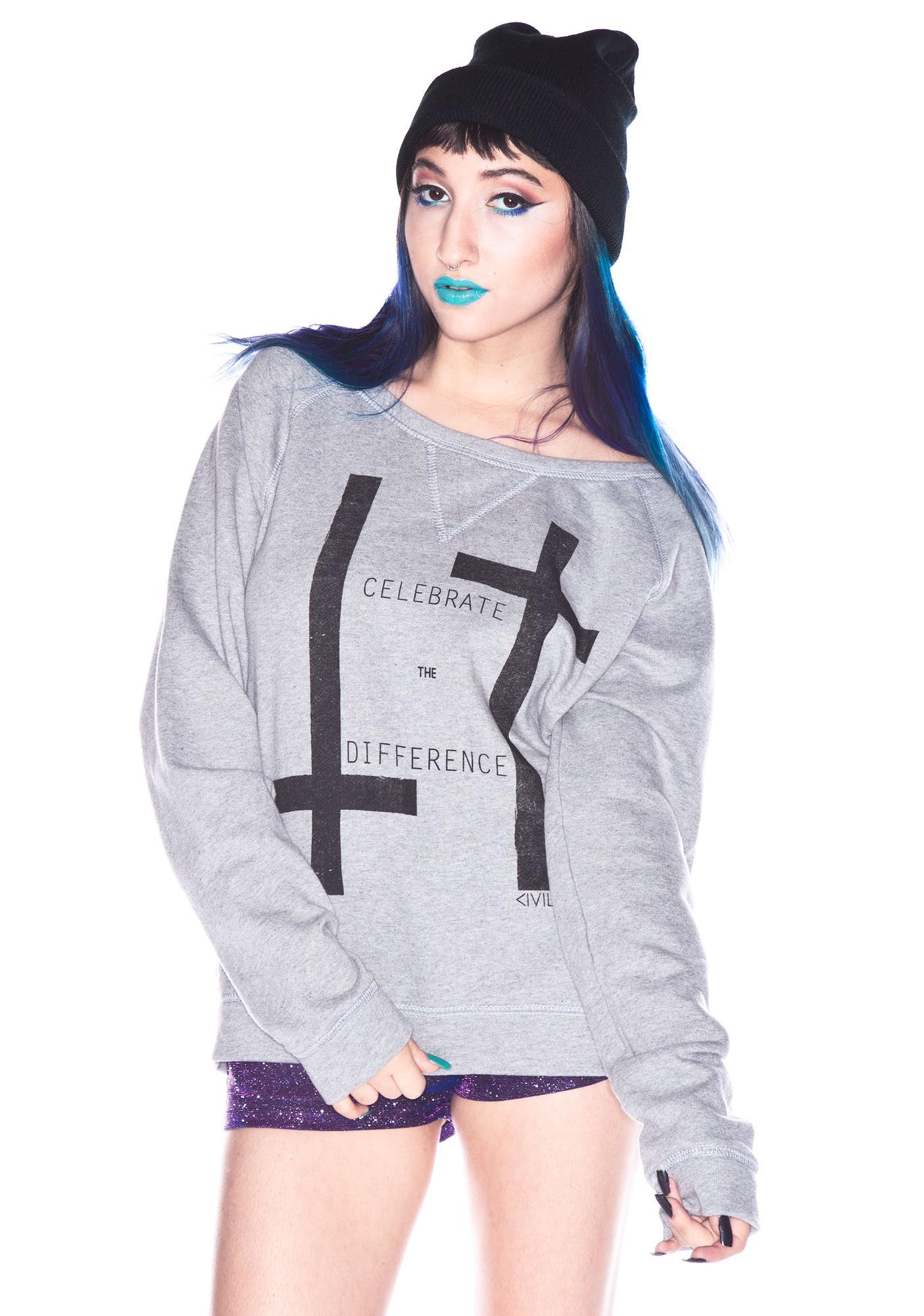 Civil Clothing Disbelief Crew Neck Sweatshirt