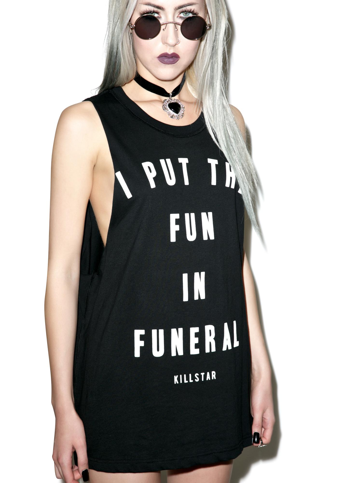 Killstar Funeral Muscle Tank